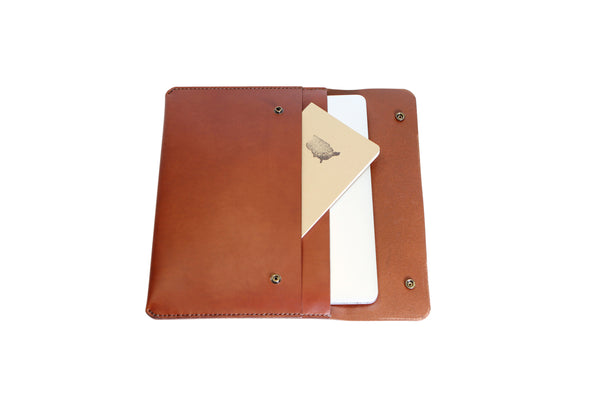 H+B LAPTOP CASE & FIELD NOTES POCKET | SEDONA BROWN LEATHER