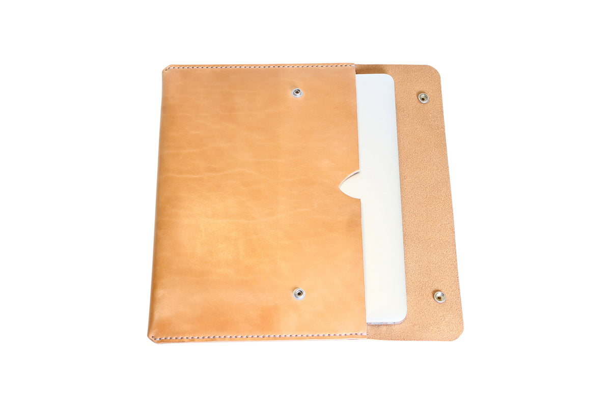H+B LAPTOP CASE | RUSSET LEATHER