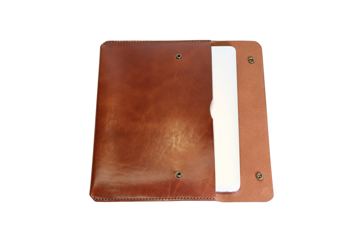 H+B LAPTOP CASE | ESPRESSO BROWN  LEATHER