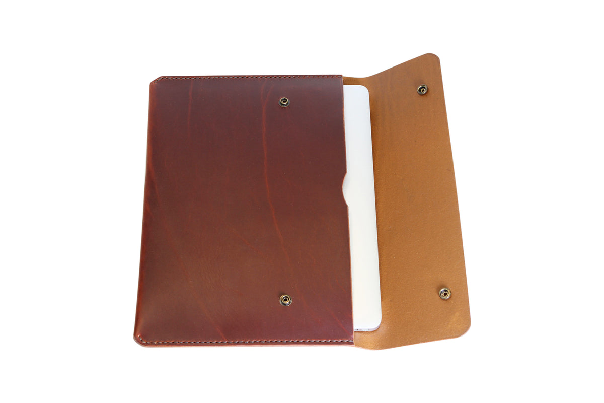 H+B LAPTOP CASE | BURNT UMBER LEATHER