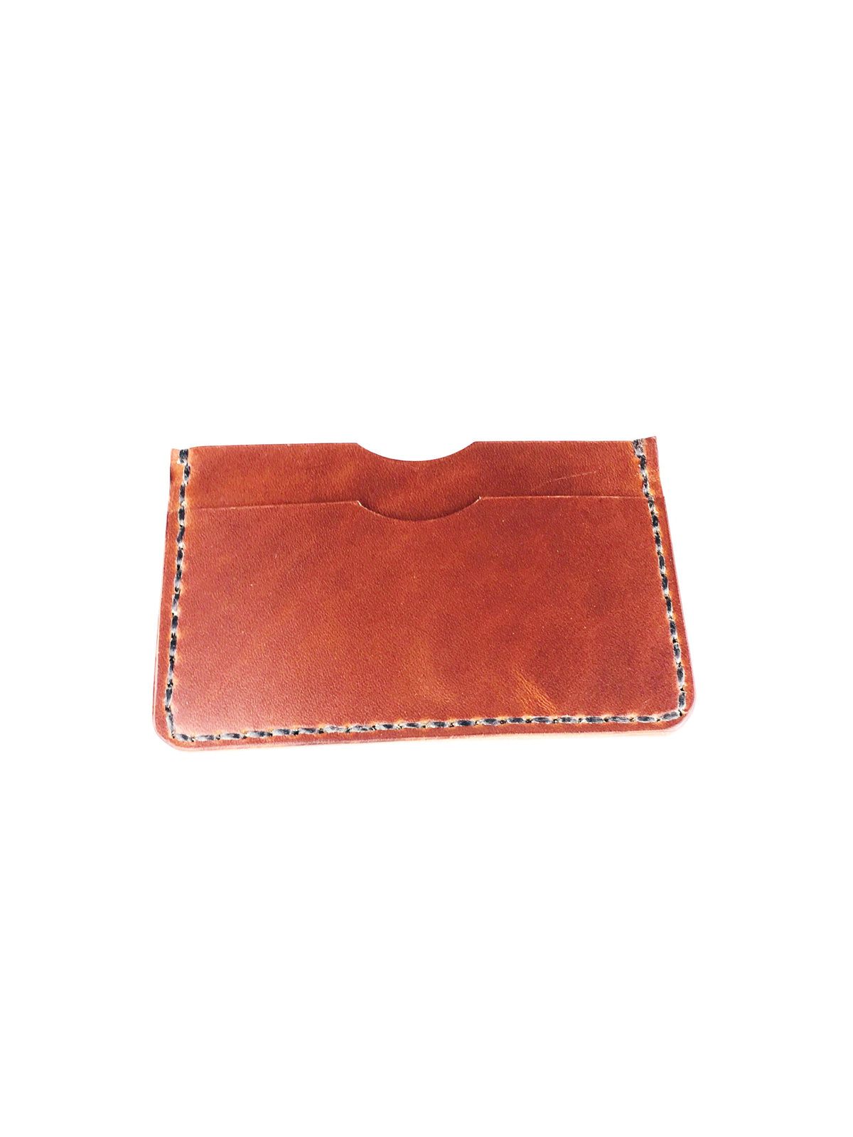 H+B  SLIM CARD WALLET - BURNT UMBER LEATHER WALLET