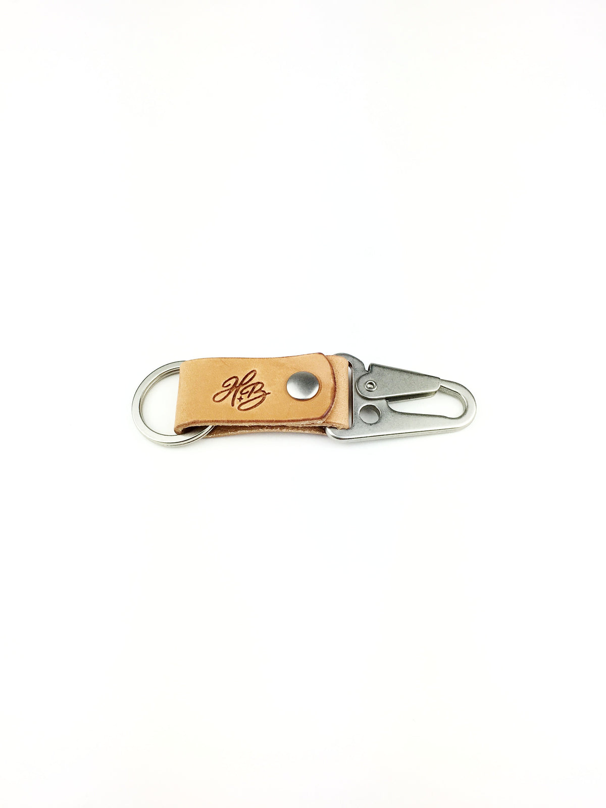 H+B KEY FOB | RUSSET LEATHER KEY FOB