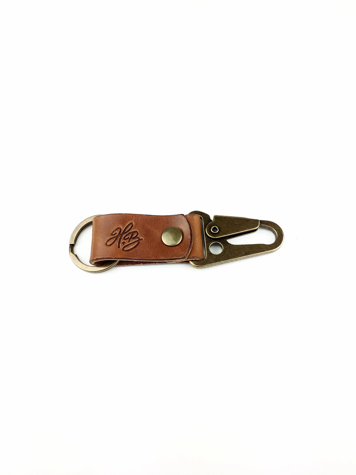 H+B KEY FOB | BUCK BROWN LEATHER FOB
