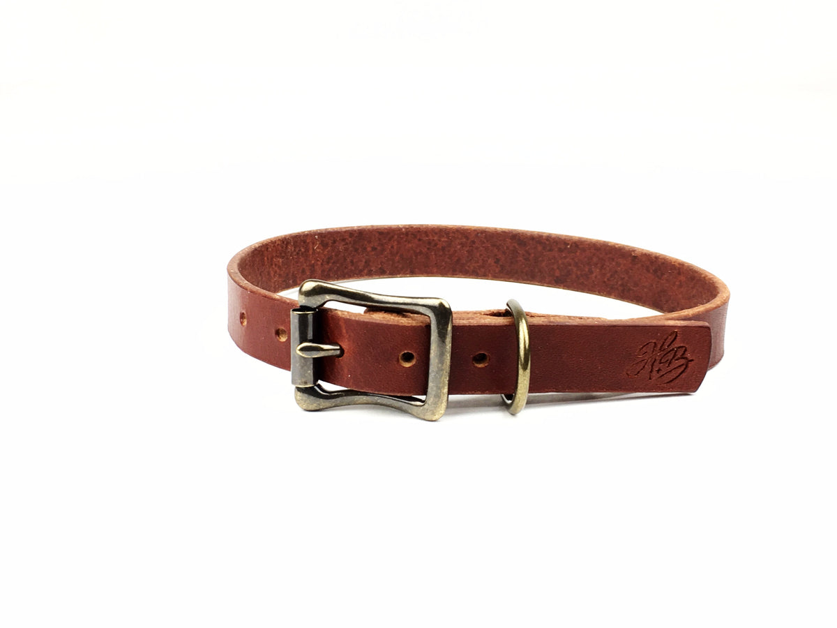 H+B DOG COLLAR | 1 INCH WIDE LEATHER DOG COLLAR