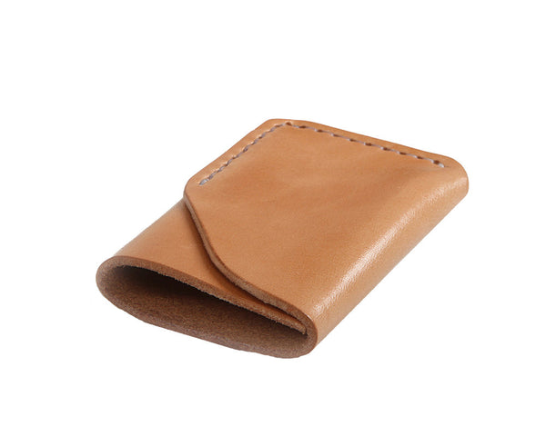 H+B CARD WALLET | RUSSET LEATHER