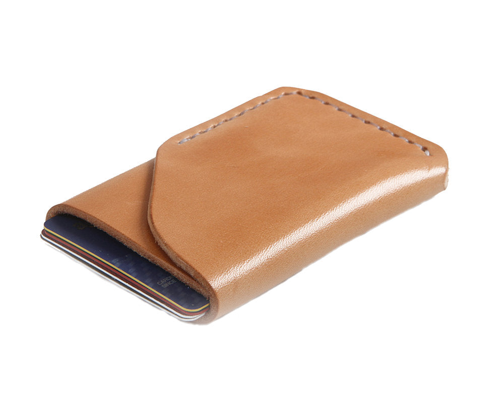 H+B CARD LEATHER WALLET | RUSSET LEATHER WALLET