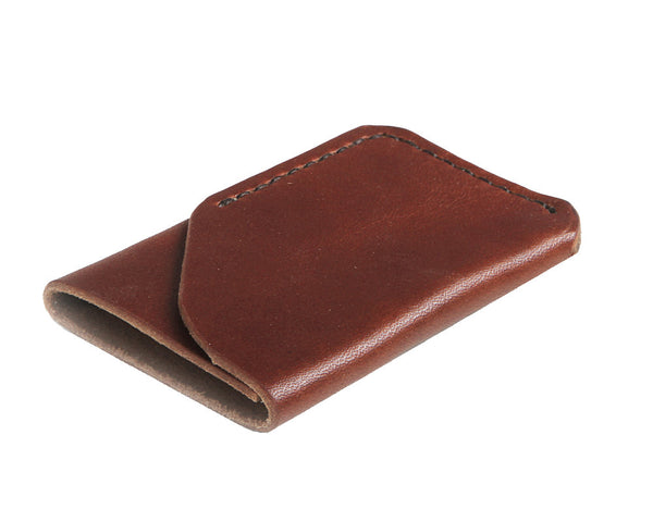 H+B CARD WALLET | BURNT UMBER LEATHER