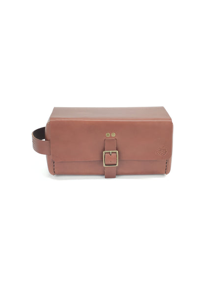 H+B SIMPLE DOPP KIT | SEDONA BROWN LEATHER
