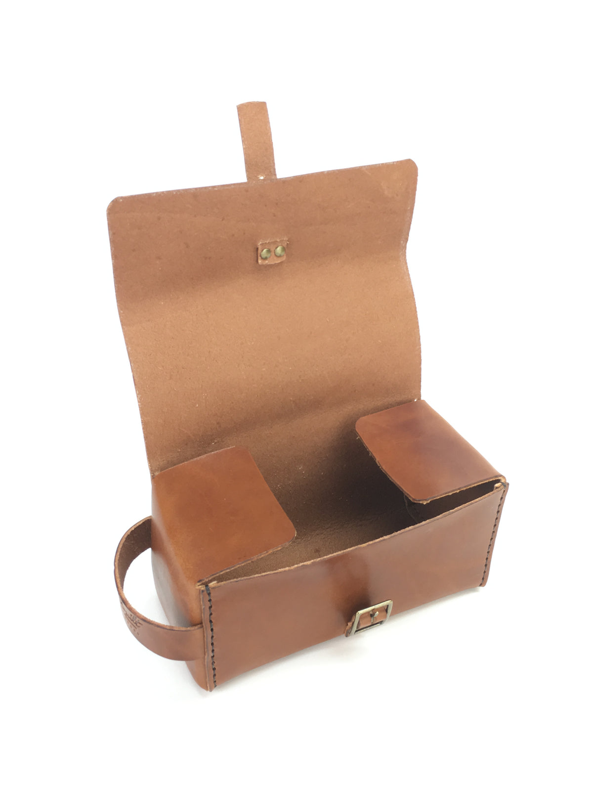 H+B LARGE DOPP KIT | BUCK BROWN LEATHER