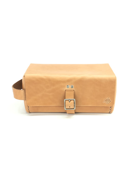 H+B LARGE DOPP KIT  | RUSSET LEATHER