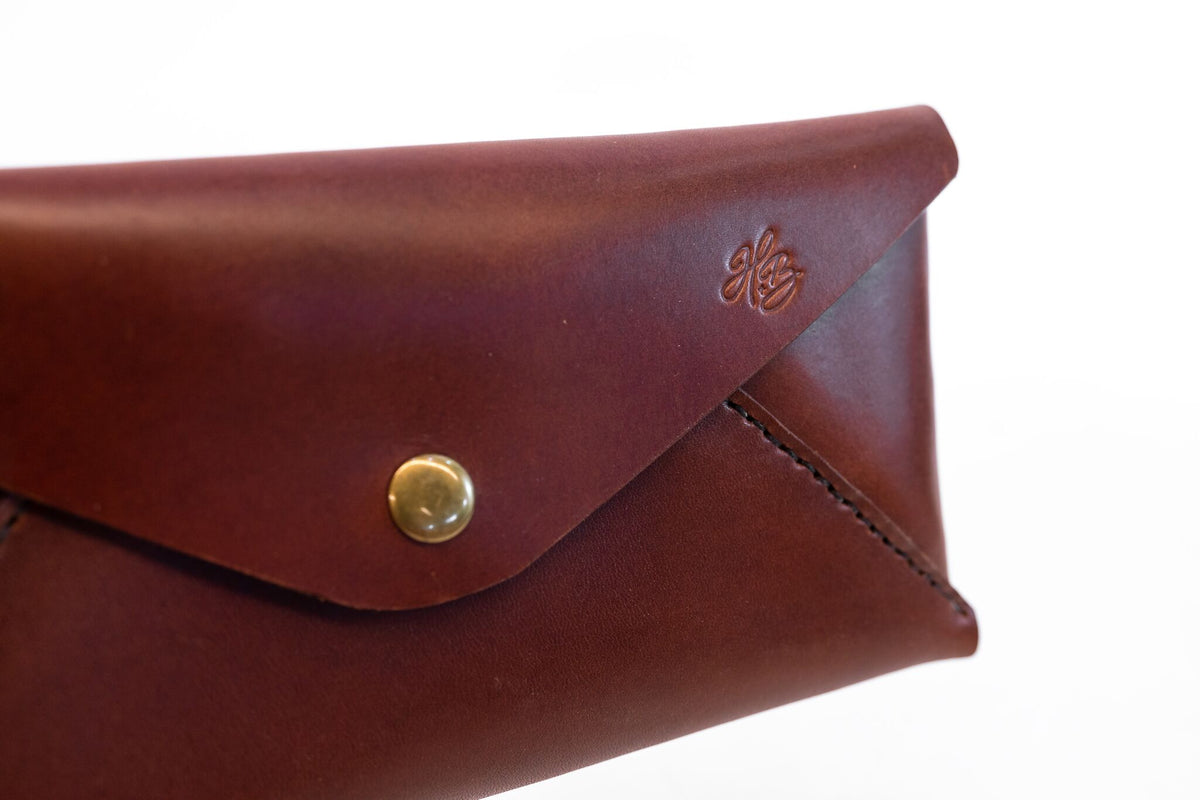 H+B CLUTCH | SEDONA BROWN LEATHER