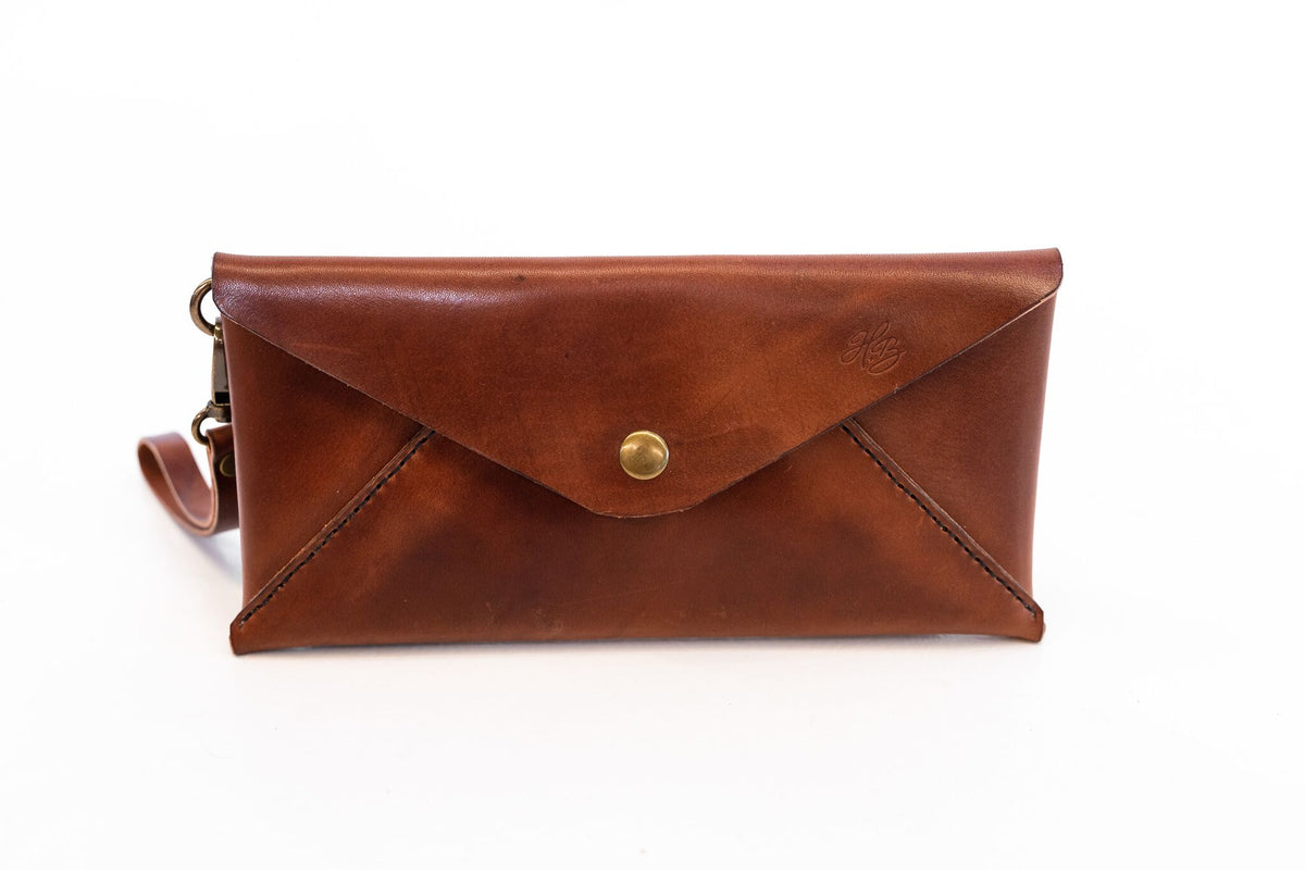 H+B CLUTCH | ESPRESSO BROWN LEATHER CLUTCH