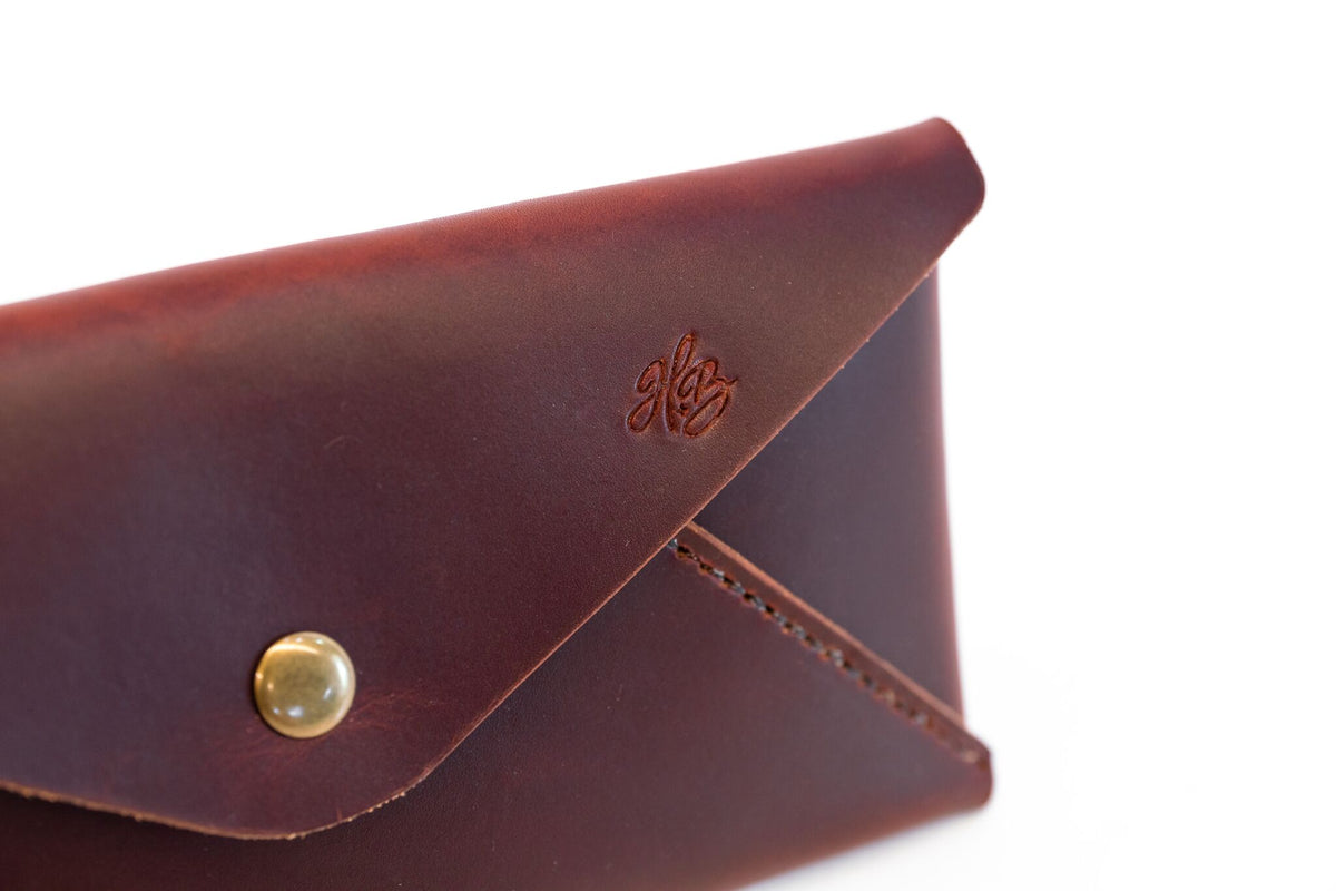 H+B CLUTCH | BURNT UMBER LEATHER CLUTCH PURSE