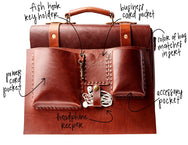 H+B LEATHER BAG | CLASSIC RUSSET LEATHER BAG