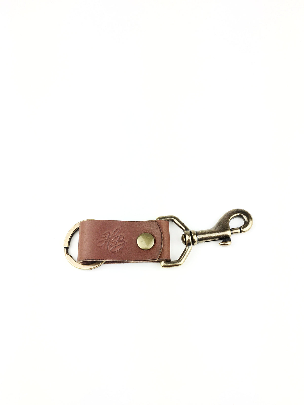H+B KEY FOB | SEDONA BROWN LEATHER KEY FOB