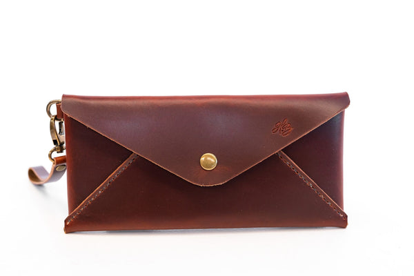 H+B CLUTCH | BURNT UMBER LEATHER