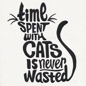 Time Spent Cat Decal