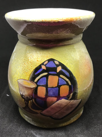 Stainglass Bible Tart Warmer - Mountain View Candle Works