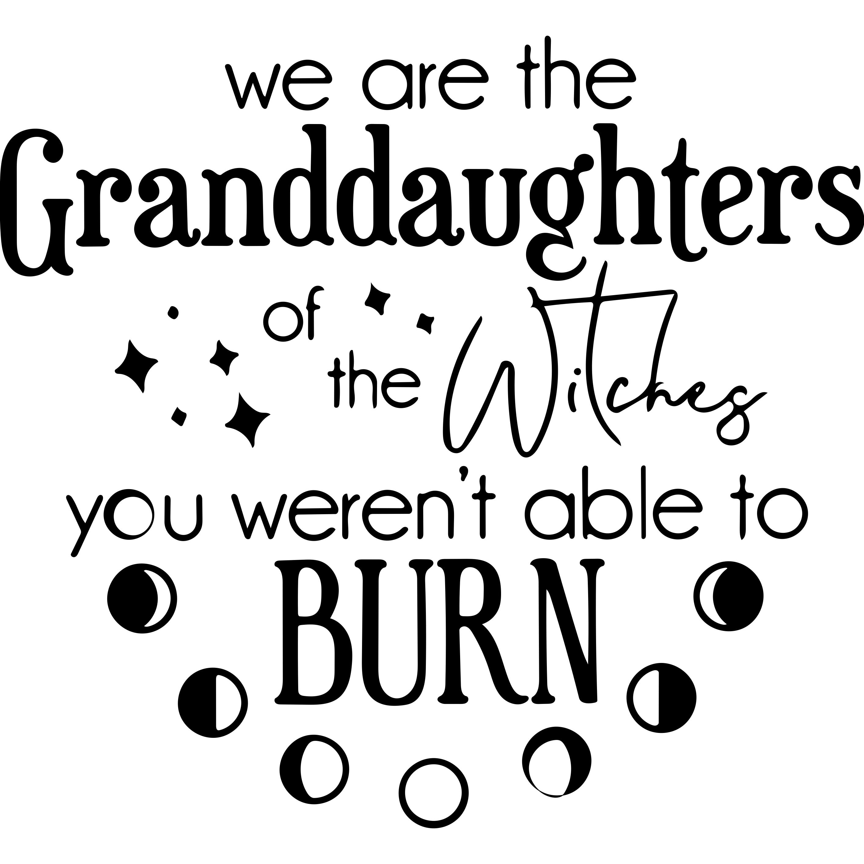 We are the granddaughters Decal