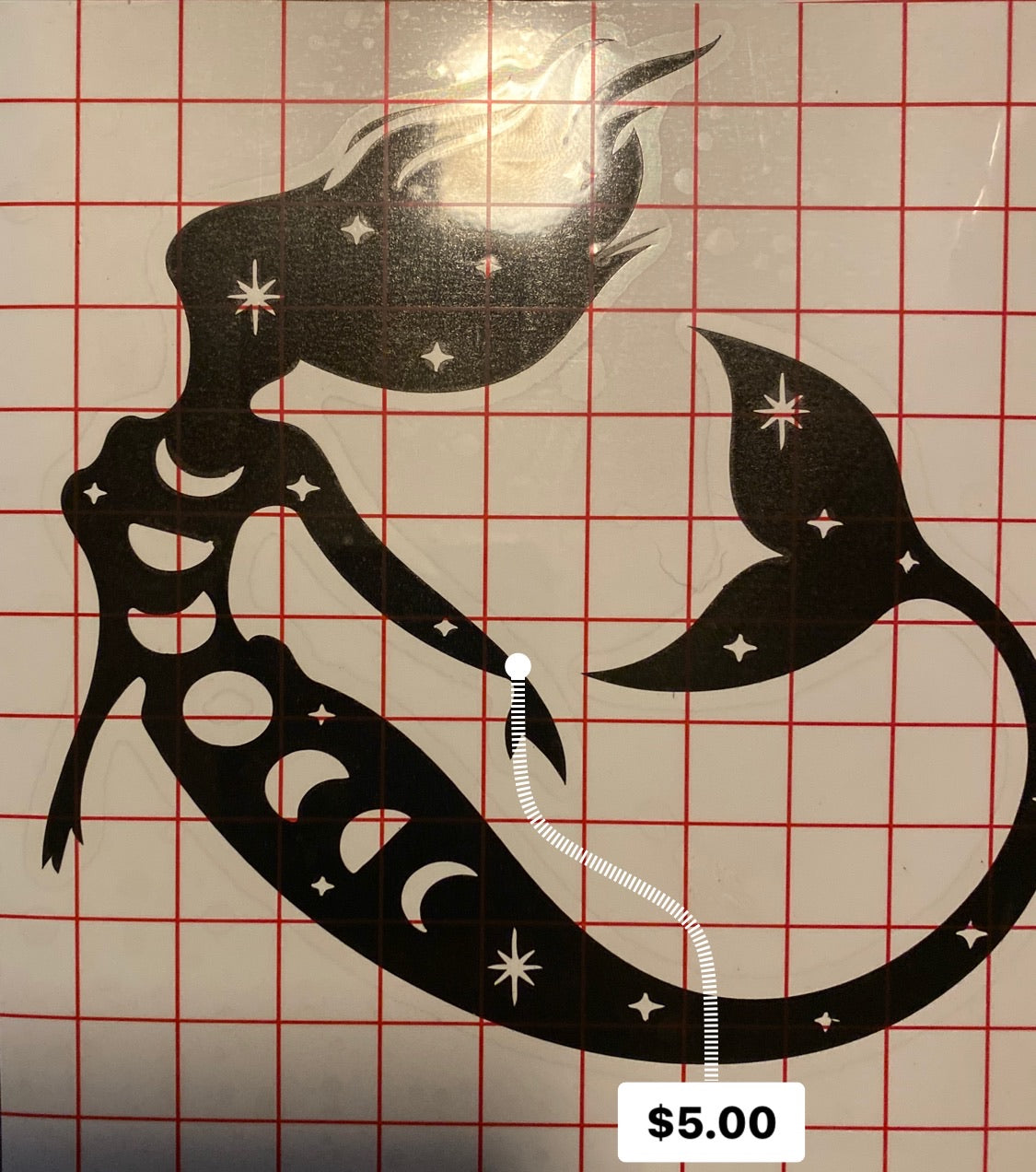 Moon Mermaid Decal