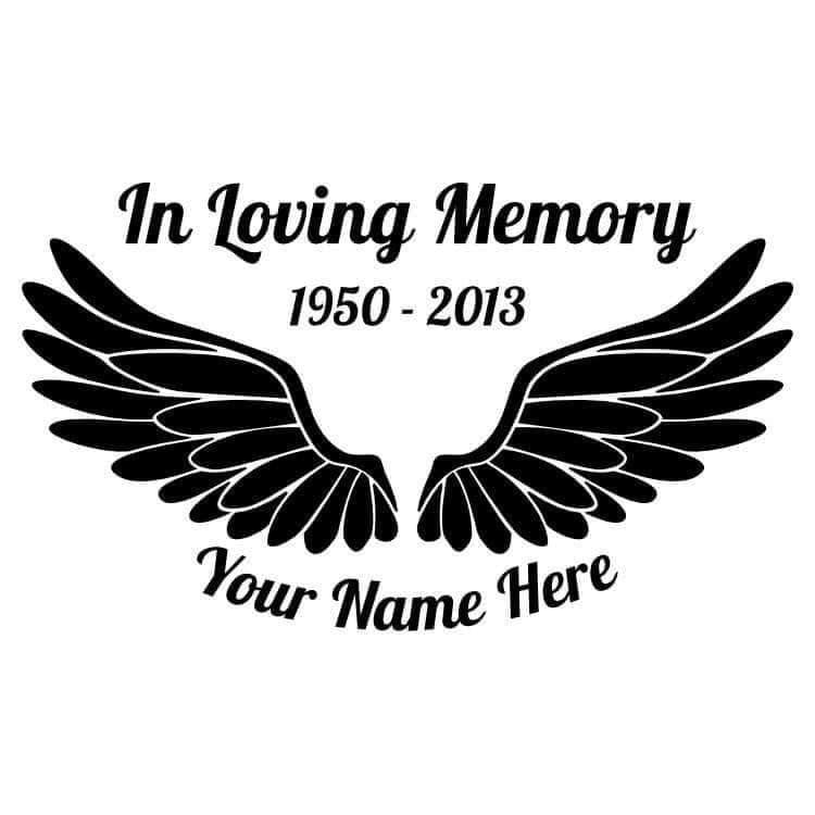 Custom Memorial Decal