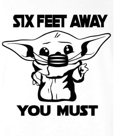 Baby Yoda Six Feet Mask
