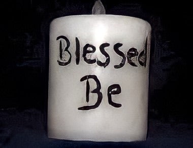 Blessed Be Flameless Flicker Candle
