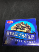 Frankincense and myrrh cone Incense - Mountain View Candle Works