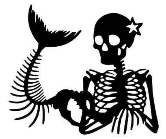 Mermaid Skeletal decal