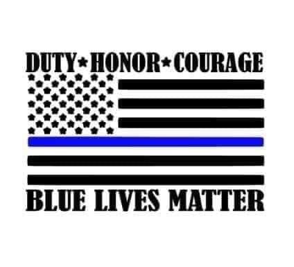 Duty honor courage Flag Decal