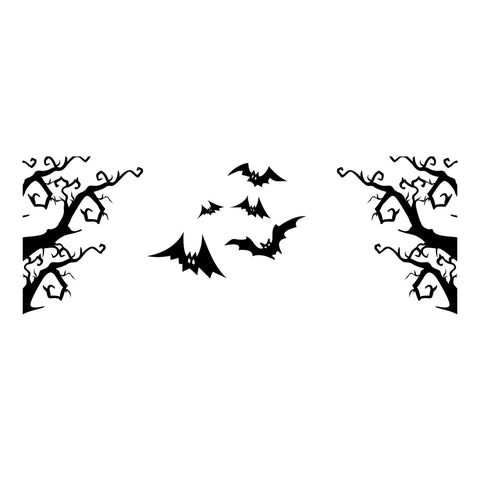 Spooky forest decal