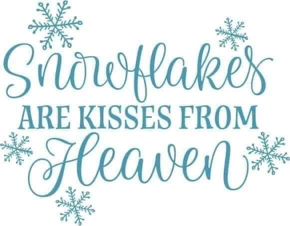 Snowflakes from Heaven  Decal