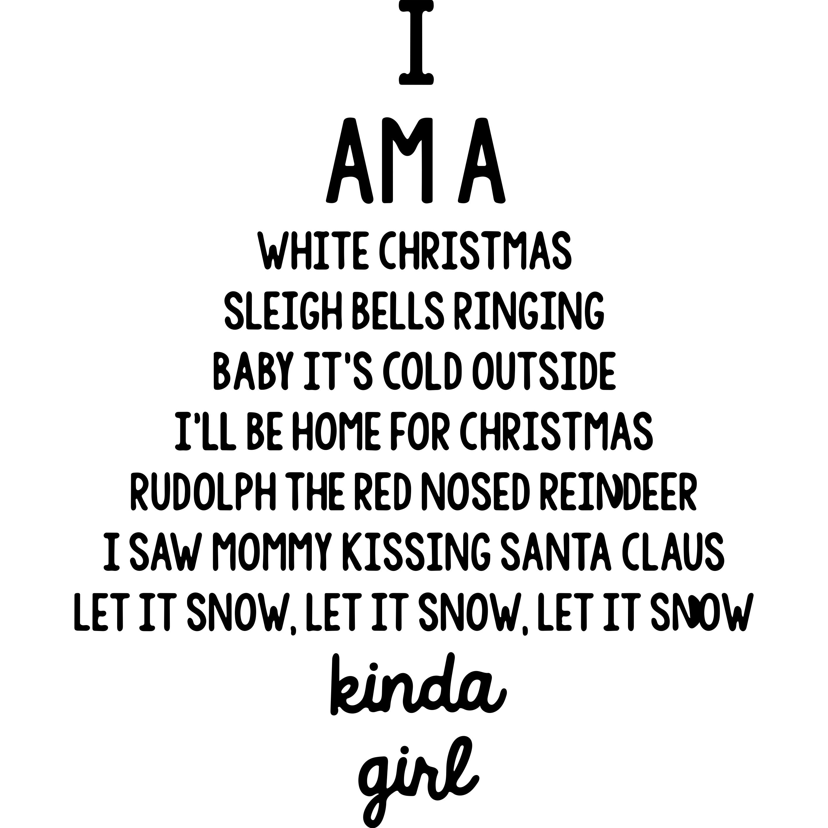 Christmas kinda Girl Decal