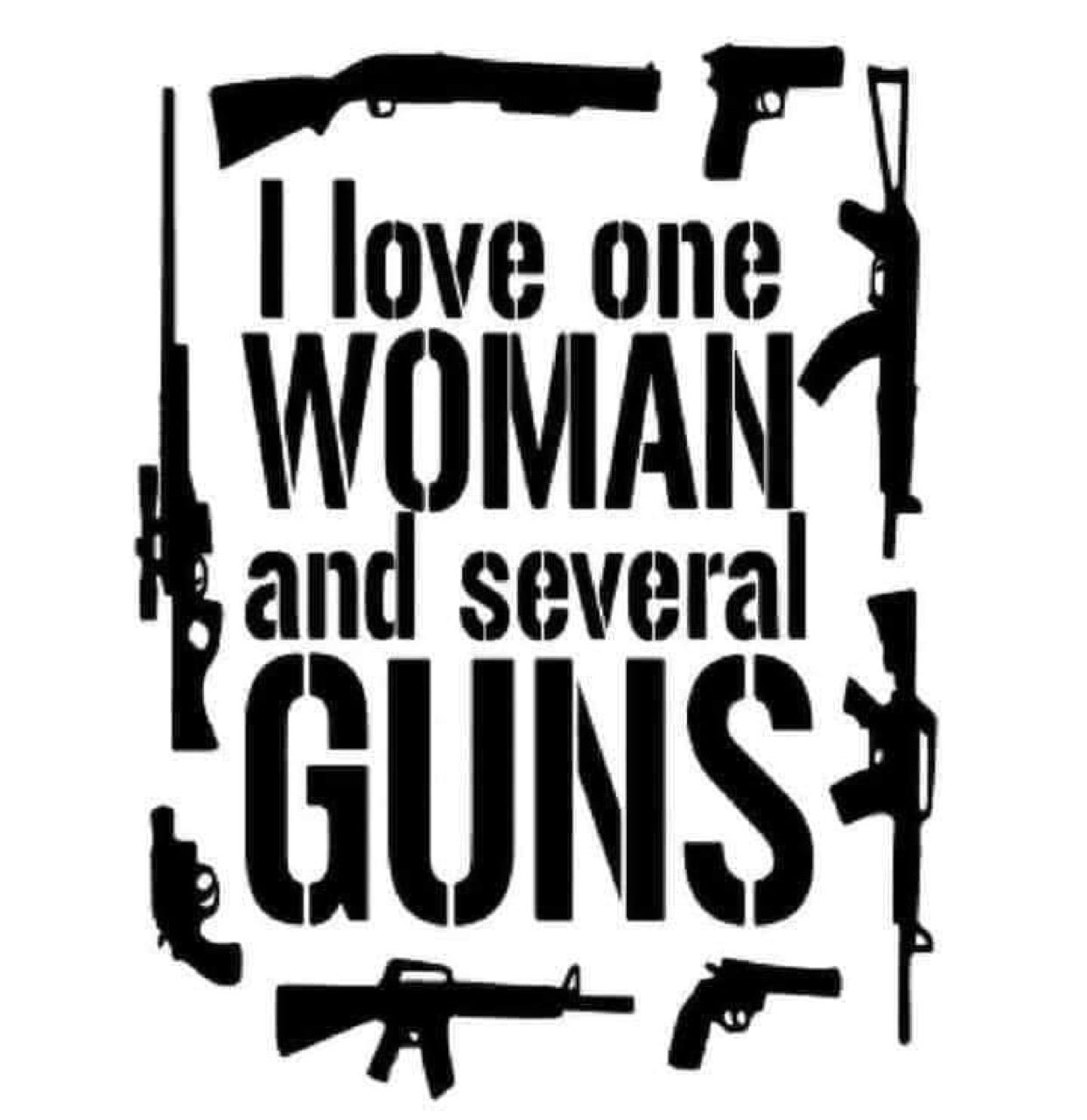Women and Gun decal
