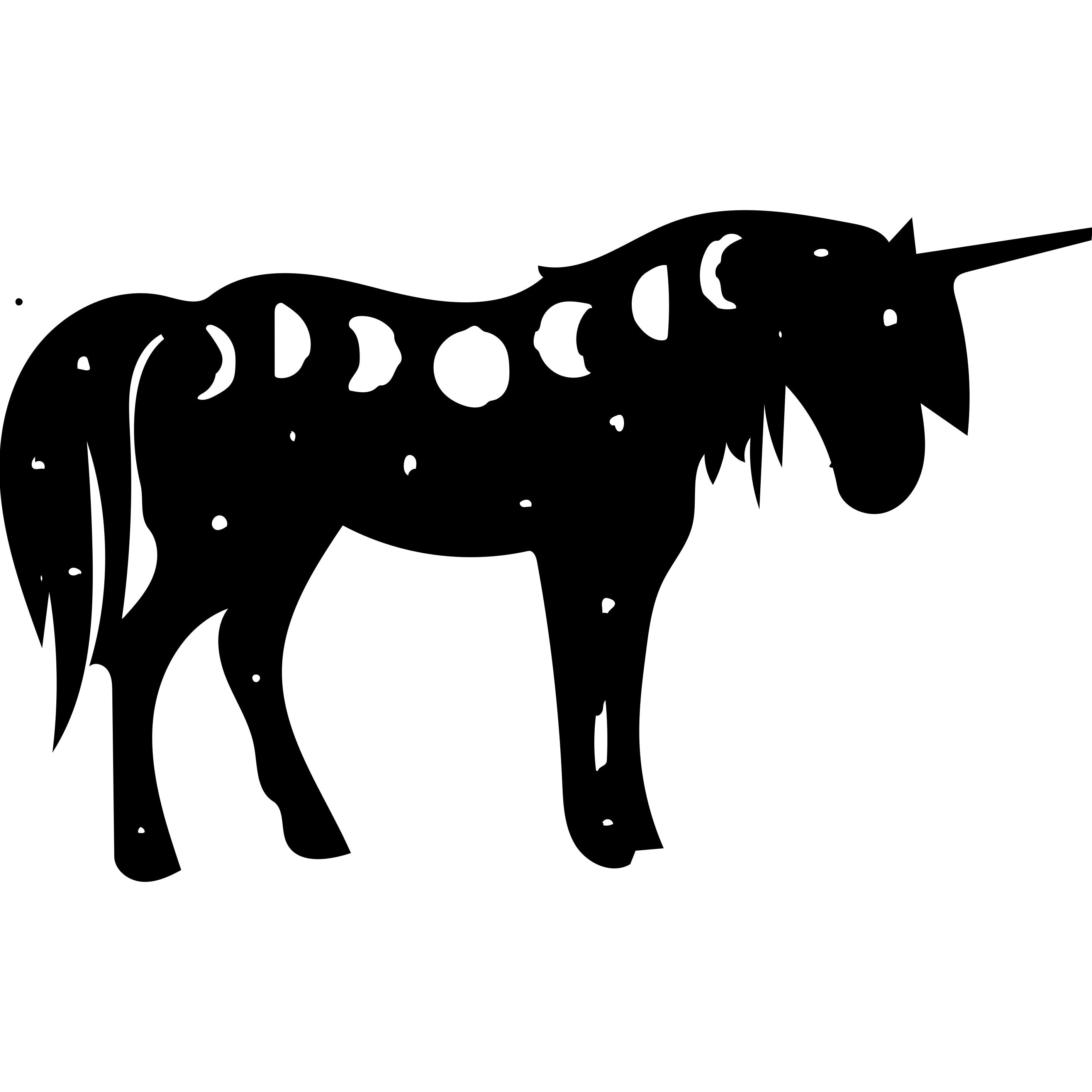 Unicorn Moon Phase Decal