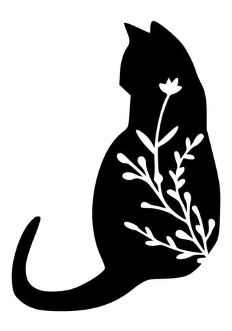 Cat Vine Decal