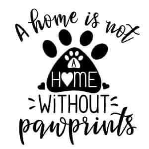 A home isn't without paw print decal