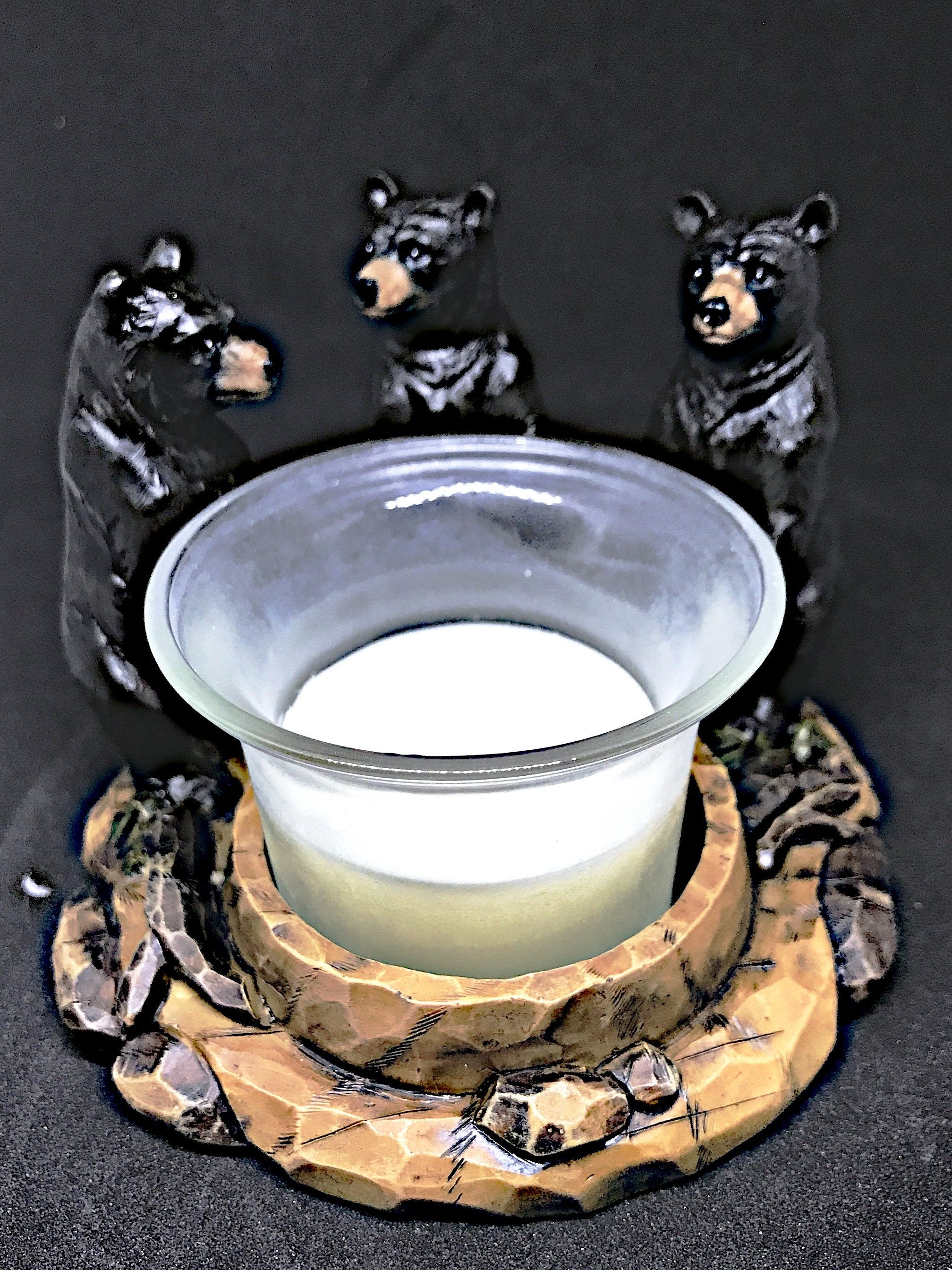 Black Bear Votive Holder et