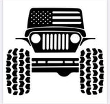 American Style Jeep Decal