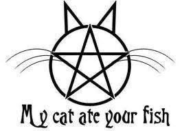 My cat are your fish car decal