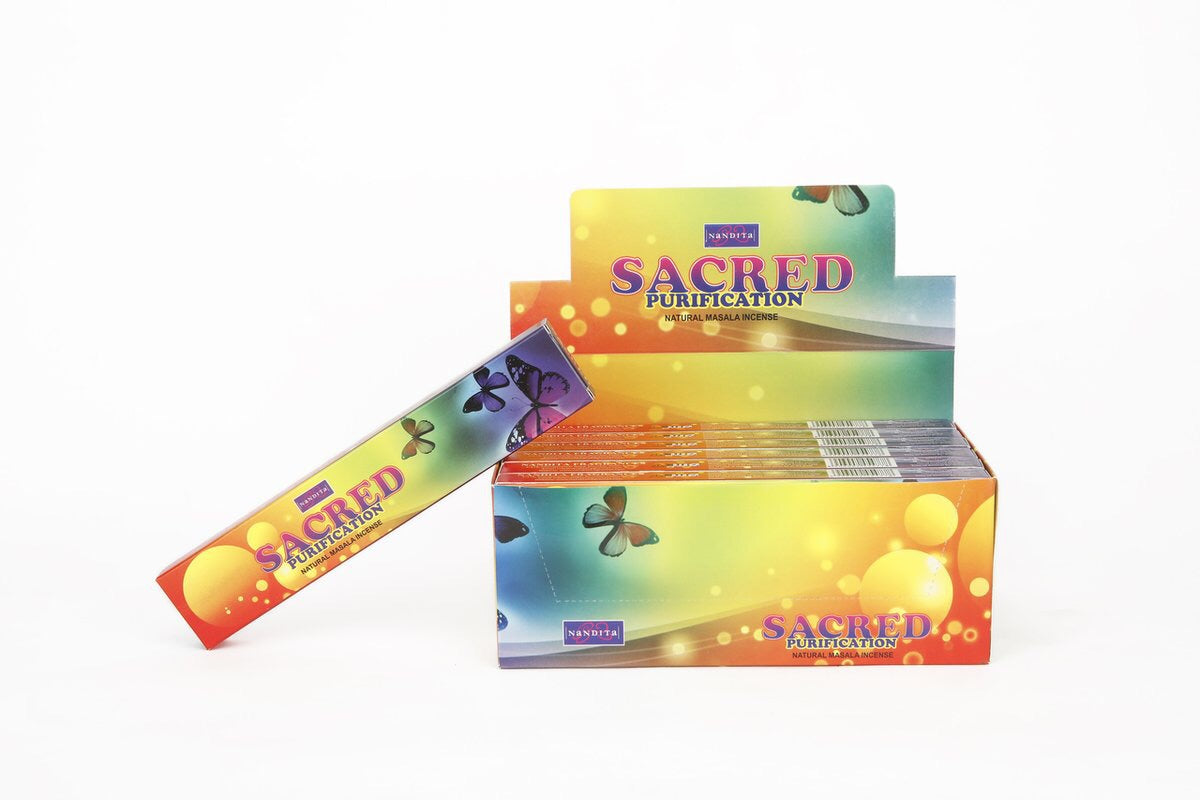 Nandita Sacred Purification Incense Sticks (15grams) - Mountain View Candle Works