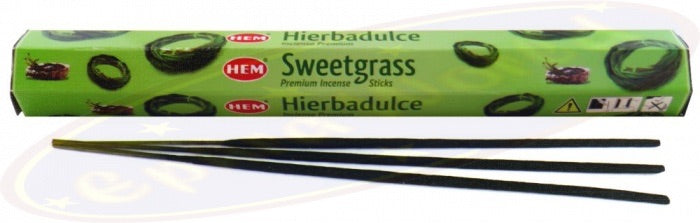 Hem Sweetgrass Incense - Mountain View Candle Works