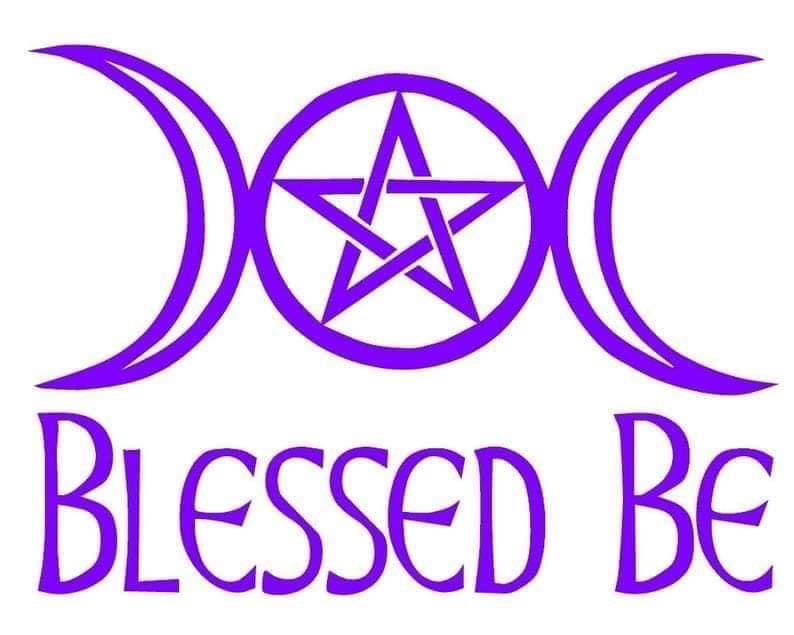 Blessed be Car Decal