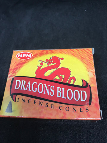 Dragon blood incense cones - Mountain View Candle Works