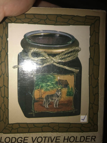 Wolf Votive Holder - Mountain View Candle Works