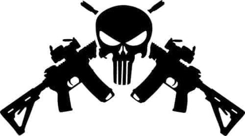 2nd Amendment Punisher decal