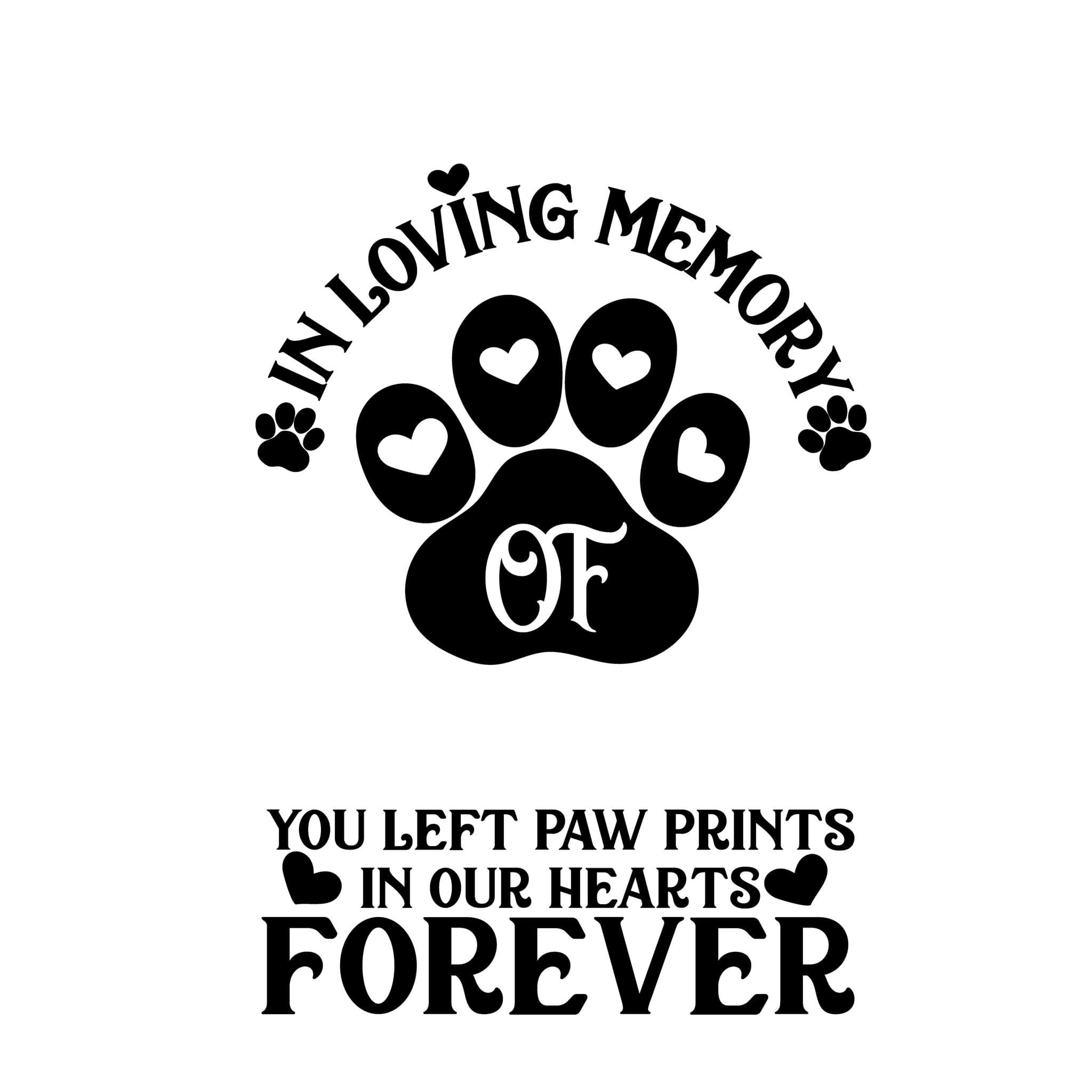 Pet Memorial  Decal
