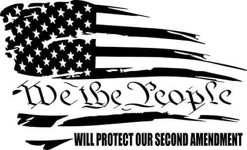 Second Amendment Car Decal