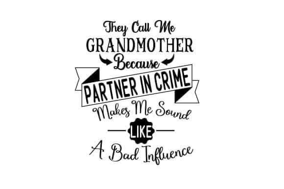 Partner in Crime Grandmother Decal