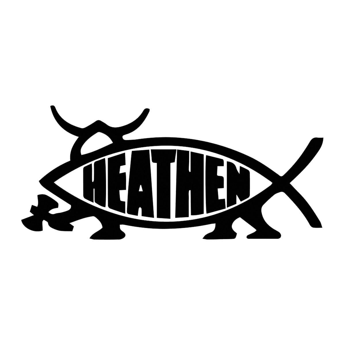Heathen Fish Decal